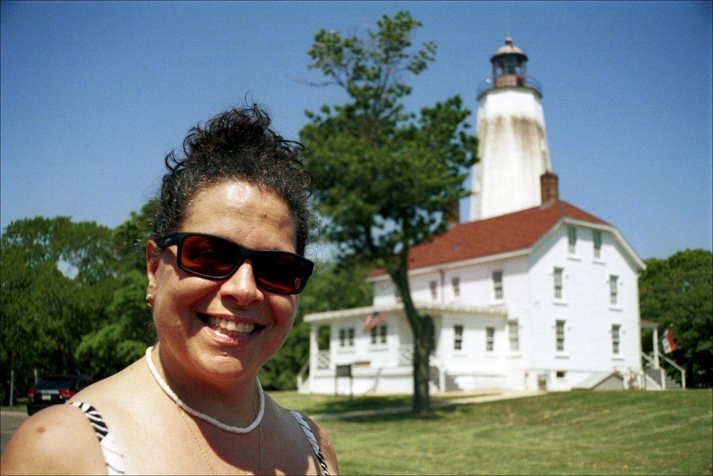Jeanne at Sandy Hook Lighthouse